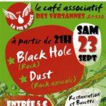 Concerts avec Black Hole et Dust